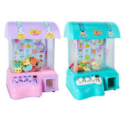 Mini Claw Machine Coin Game Doll Machine Grabber Toy Playset Box Gifts