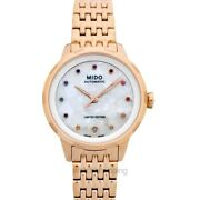 Mido Multifort M043.207.33.109.00 Mother Of Pearl Dial Ladyand039s Watch Genuine