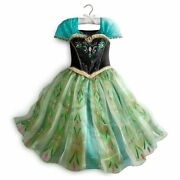 Frozen Anna Deluxe Costume Dress Youth Size 5/6 Nwt 2014 Disney Store Original