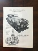 1972 Vintage Original Print Ad Walkers Deluxe Bourbon Whiskey Straight-8