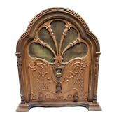 For Repair 1931 Vintage Gothic Cathedral Tube Radio Fada Kf Receiver Wood Rare