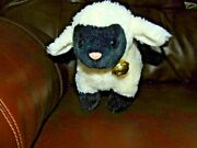 Gund Black Face Sheep Black Hooves Red Ribbon With Bell 45560