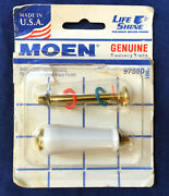 New ✅ Moen 97560 Porcelain And Polished Brass Monticello Small Lever Handle Insert
