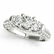 Real 1.46 Carat Diamond Proposal Ring For Sale Solid 950 Platinum Rings Size 7 8