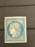Ceres Nanddeg4f Neuf 25ct Bleu Clair 1849 1850 4 Marges 4 Filets Cote 8500andeuro Stamp