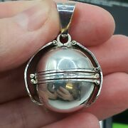 Sterling Silver Family Locket Ball, Mexico 17.6grams Large Ball
