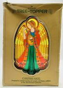 Vintage 1979 Hallmark Christmas 8 Tree Topper Acrylic Stained Glass Style Angel