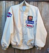 Vintage 70s Datsun Nissan Bell Helmets Racing Jacket With Patches Size Large