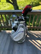 Nice Mens Complete Golf Club Set And Bag, Callaway, Mizuno, Wilson And More