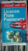 Vintage Nos License Plate Fasteners / Bolts And Nuts New Old Stock Attachment