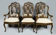 Set Of 6 Baker Furniture Provential Louis Xv Mahogany Dining Chairs High End