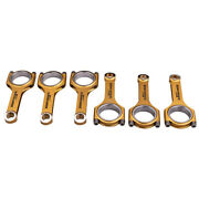4340 Forged Steel H-beam Connecting Rods + Arp 2000 Bolts Fit For Audi Vw 3.0t