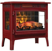 Duraflame 3d Infrared Electric Fireplace Stove With Remote Control, Cinnamon - D