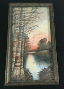 Vtg / Antique Asian Watercolor Painting Signed Lel Or Lll Japanese Chinese