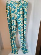 Lularoe One Size Blue And Yellow Minnie Mouse Leggings Pre-owned