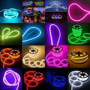 164ft Flexible Led Neon Rope Lights Strip Waterproof Tube Outdoor Holiday Lamp