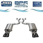 Corsa 304ss Valved Axle-back Exhaust System Quad Rear For Mustang 18-19 21002blk