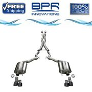 Corsa 304 Ss Cat-back Exhaust System With Quad Rear Exit For Mustang 18-20 21047