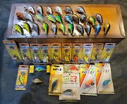 Massive Vintage Bagley Fishing Lure Crankbait Collection 45 Lures Many New