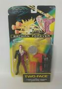 Batman Forever Two-face With Cannon And Coin Action Figure 1995 Kenner Moc