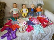 Lot 4 American Girl Bitty Baby Twin Doll /clothes