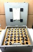 Hardinge And Rivett 6r Collet Set - 5/64 To 1 1/16 - Qty. 30, Extras - Wood Case