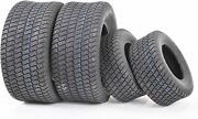 4 Front And Rear Turf Lawn Mower Tires Size 16x6.50-8 And 23x10.50-12