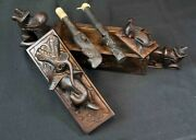 Dayak Borneo Tribal Tattoo Box With Tools Hand Carved Work Of Art Vintage