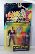 Batman Forever Two-face Figure With Turbo Cannon And Coin Moc Kenner 1995
