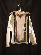 Orage Womens Ski Snowboard Jacket Hooded White/tan Insulated 3 In 1 Sz Med