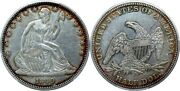 1840 O Rev Of 1838and039 Seated Liberty 50c Xf/au Great Color Very Rare