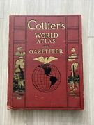 Collierandrsquos World Atlas And Gazetteer Andndash 1937 Edition Great Condition Beautiful
