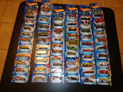 Hotwheels Car Lot 1 Of 60. Sealed On Factory Cards. Ships International.