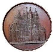 1849 Belgium Tournai Cathedral Of Our Lady Notre Dame Architectural Medal Wiener