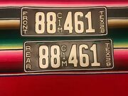 1928 Texas Truck License Plates 88461 Repaint Pair Commercial Motor