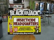 Vintage Wacky Black Jack Insecticide Sst Tin Metal Advertising Single Sided Sign
