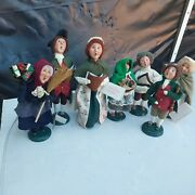 Lot Of 7 Byers Choice Carolers Colonial Williamsburg 1998 And 2001 Old Befana