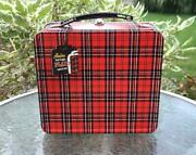 Nwt Aladdin Heritage Plaid Metal Lunchbox Kit With Accessories