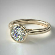 14k Yellow Gold Natural Diamond Engagement Ring Round Cut 0.50 Ct Size 5 6 7.5 8