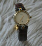 Authentic Luxury Rare Vintage 4500l Gold Pleated Watches