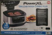 Powerxl Grill Air Fryer Combo 12-in-1 Indoor Grill Air Fryer Slow Cooker