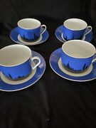 Philippi Deshoulières French limoges/4 Coffee-chocolate Mug With Saucer