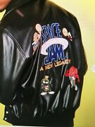 Space Jam / Looney Toones A New Legacy Embroidered Moto Jacket - Size M