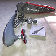 Brookstone Active Sport Variable Speed 3-heads Personal Body Massager F-271 Bag