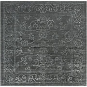 Surya Hightower 8and039 Square Area Rugs In Charcoal And Light Gray Htw3002-8sq