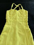 House Of Cb Dress Neon Yellow Size Small