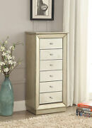 Acme Talor Jewelry Armoire In Antique Gold Finish 97172
