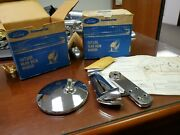 Nos 1953 - 1966 Ford Pickup Truck Chrome Rearview Side Mirror Left And Right Oem