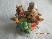 Enesco Priscilla's Mouse Tales Row Row Row Your Boat Musical Figurine 204307