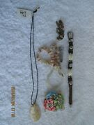 Vintage Fashion Jewelry Lot Of 7 4 Bracelets 2 Pins And 1 Necklace New Tag On 5